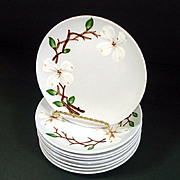 9 Orchard Ware Dogwood Bread Plates Mint