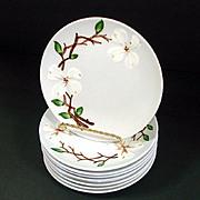 9 Orchard Ware Dogwood Bread Plates Mint
