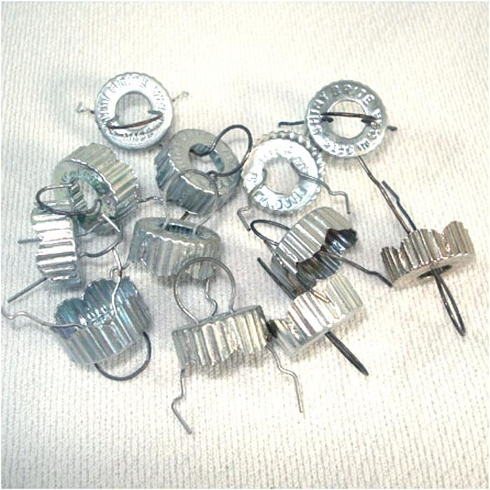 12 Shiny Brite Replacement Metal Christmas Ornament Caps