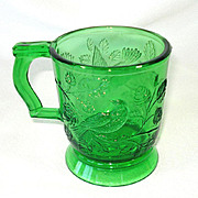 Mosser Green Robin in Tree Glass Mug or Cup