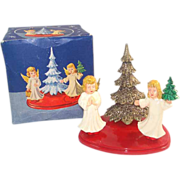 Angels Christmas Tree West Germany Christmas Scene in Original Box