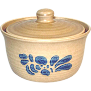 Pfaltzgraff Folk Art Covered Butter Tub or Individual Casserole