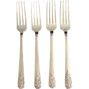 Margate aka Arcadia 1938 Oneida 4 Silverplate Dinner Forks