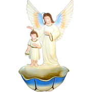 Guardian Angel and Child Vintage Hartland Holy Water Font