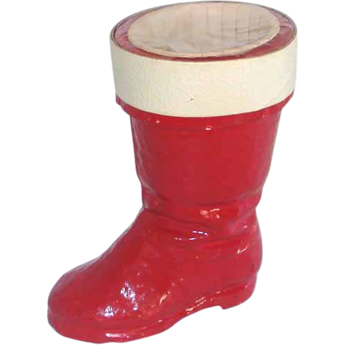 Paper Pulp Santa's Boot Sealed Christmas Candy Container