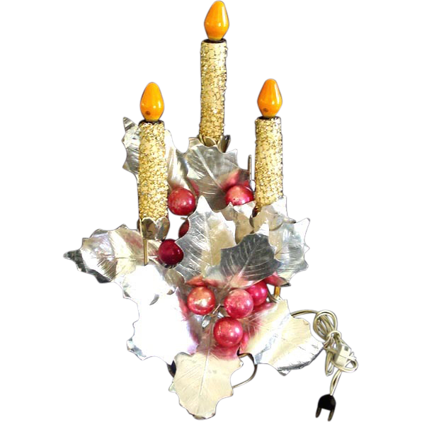 Mirostar Fancy Electric Christmas Triple Candelabra Centerpiece