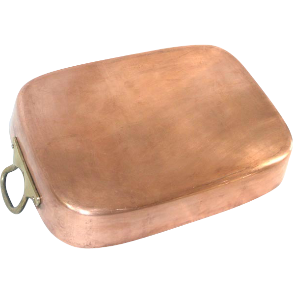Large Copper Roasting Pan Sold On Ruby Lane