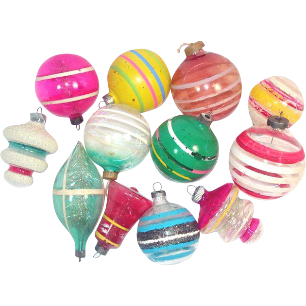 Christmas Decorations During Ww2 : Glass unsilvered christmas war ornaments from