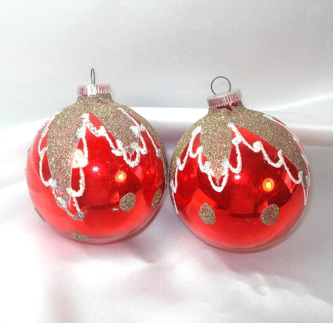 Box lanissa s red blue mica glitter christmas