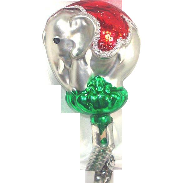 Circus Elephant Clip On Christmas Ornament