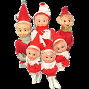 6 Felt Knee Hugger Japan Christmas Pixie Elves