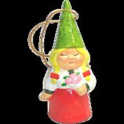 Unieboek 1979 Lady Gnome Ceramic Figurine or Ornament