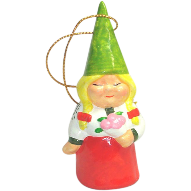 Unieboek 1979 Lady Gnome Ceramic Figurine or Ornament