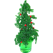 Beaded Christmas Tree, Tiny Glass Seed Beads