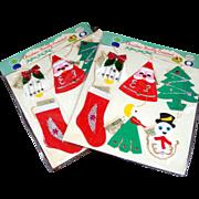 2 Packs Shiny Brite 1950s Money Holder Christmas Ornaments