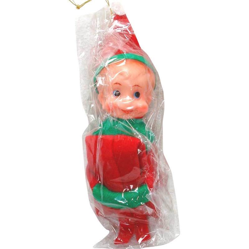 1960s Japan Christmas Knee Hugger Pixie Elf Mint in Package
