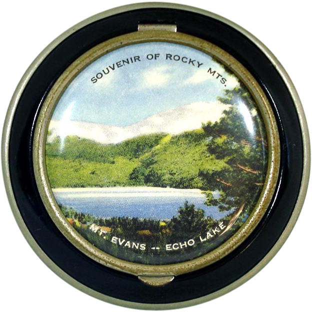 1930s Pictorial Echo Lake Colorado Souvenir Compact