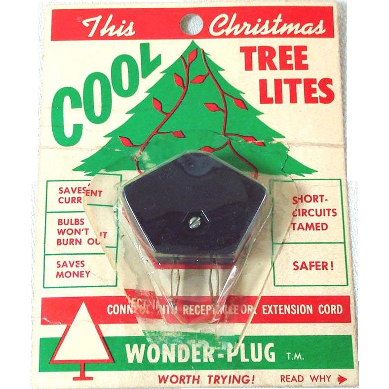 1950s Christmas Lights Wonder Plug Current Saver