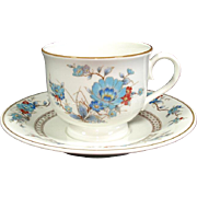 Noritake Bleufleur Cup and Saucer Set, 12 Available