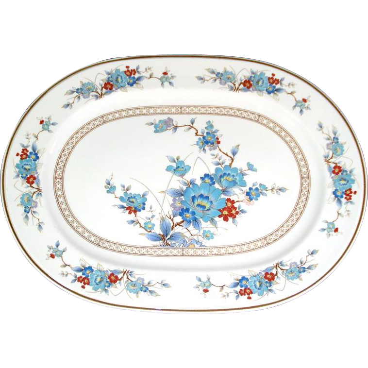 Noritake Bleufleur Oval Serving Platter