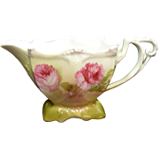 RS Germany Ornate Porcelain Creamer Roses Decoration