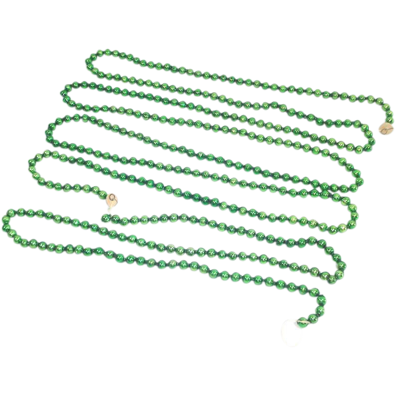 12 Feet Green Mercury Glass Christmas Bead Garland