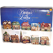 Dickens of London Porcelain Bisque Christmas Village