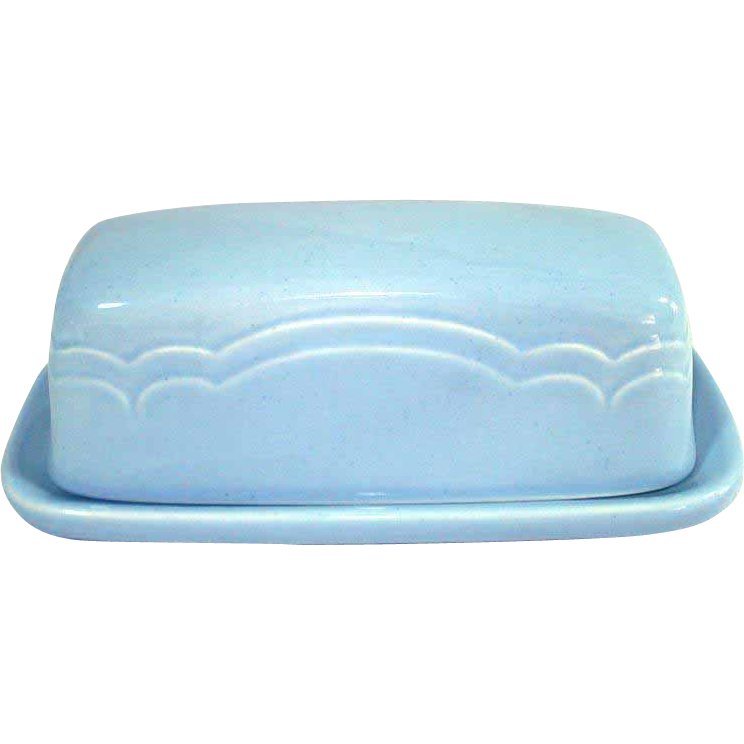 Pfaltzgraff Blue Gazebo Covered Butter Dish
