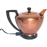 Manning Bowman Copper Electric Hot Water Server Tea Kettle