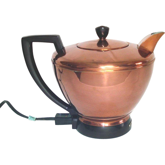 Electric Hot Water Kettle ~ Manning bowman copper electric hot water server tea kettle