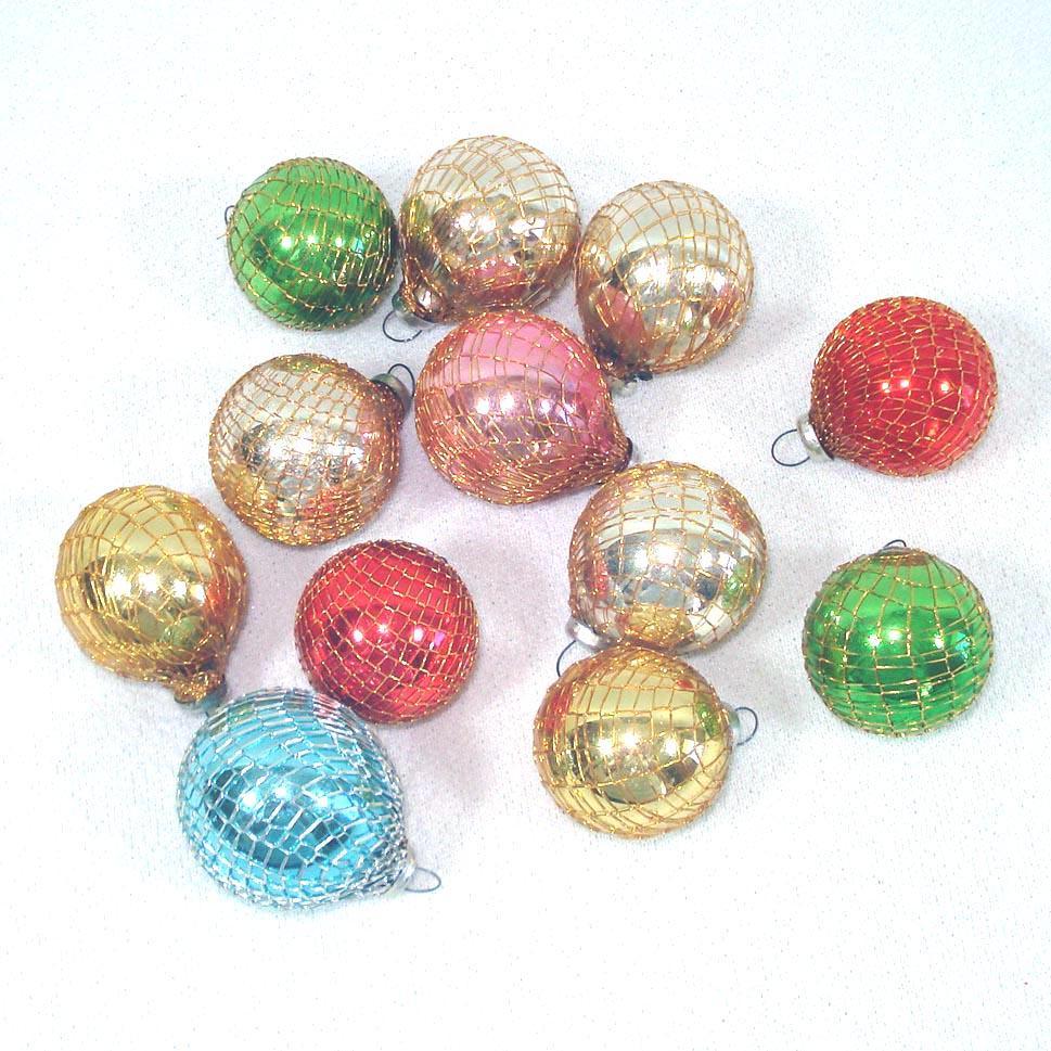 Box shiny brite mini mesh covered glass christmas
