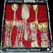 Baccara Rose Sweden 20k Gold Plated Flatware Set