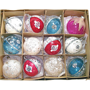 Box Poland Fantasia Unsilvered Glass Christmas Ornaments