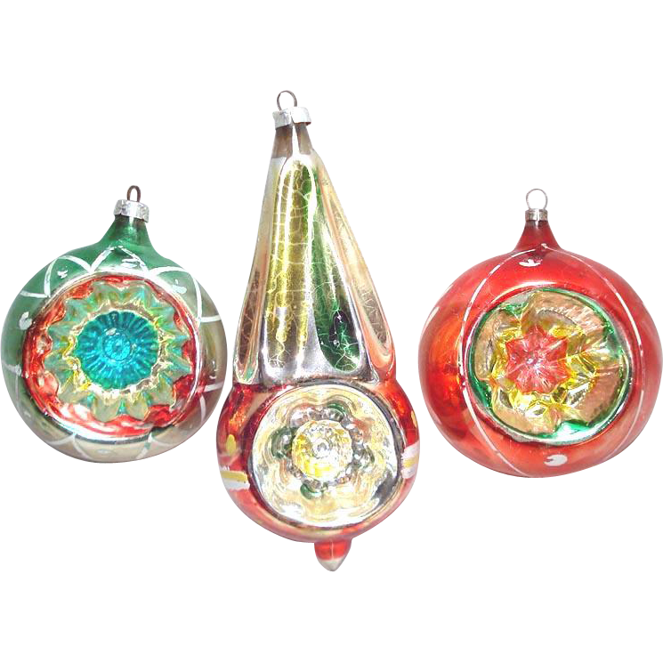 Christmas Tree Shop Binghamton Ny: Colorful West Germany Indent Glass Christmas Ornaments