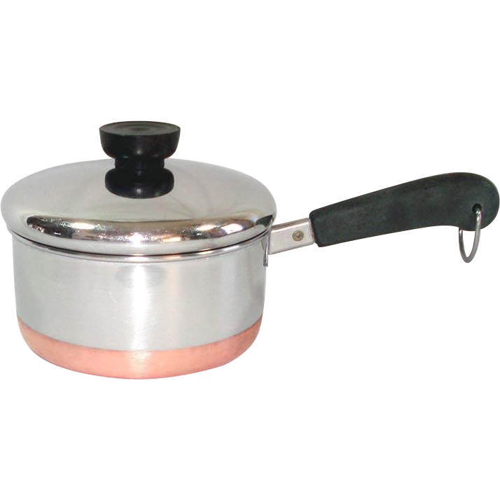 Revere Ware Copper Clad Stainless Steel 1 Quart Covered Saucepan