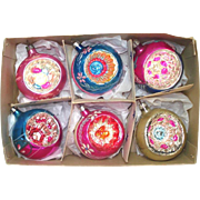 Box Fancy Poland Indent Glass Christmas Ornaments