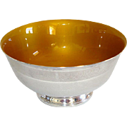 Reed and Barton Silverplate Gold Enameled Bowl