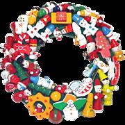 Wooden Christmas Ornament Wreath