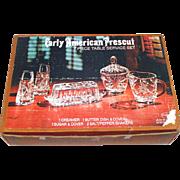 EAPC Early American Prescut 7 Piece Table Service Boxed