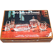 EAPC Early American Prescut 7 Piece Table Service Boxed