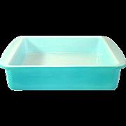 1950s Pyrex Turquoise Square Brownie or Cake Baking Dish Pan