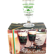 Boxed Set Italian Irish Coffee Stemmed Glasses