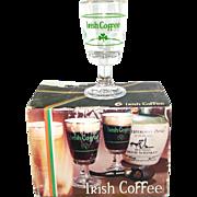 Boxed Set Italian Irish Coffee Stemmed Glasses