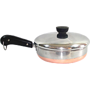 Revere Ware Copper Clad Straight Side 7 Inch Skillet With Lid