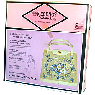 1960s Regency Jewel Tone Handbag Purse Kit Mint in Box