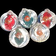 Box Jewel Brite Pixie Elf 1960s Plastic Christmas Ornaments