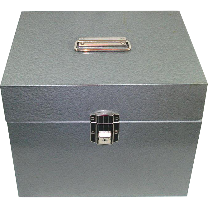 1950s Fireproof Steel Document File Box With Keys