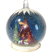 Nativity Scene Diorama Glass Dome Christmas Ornament