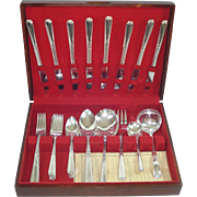 Janet Oneida 1936 Silverplate Flatware Set With Chest Service for 8