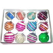 Box 12 Unsilvered World War II Glass Christmas Ornaments